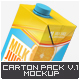 Milk or Juice Carton Mock-Up v.1 - GraphicRiver Item for Sale
