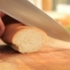 Slicing Baguette on a Cutting Board - VideoHive Item for Sale