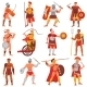 Gladiator Vector Roman Warrior Character in Armor