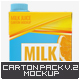 Milk or Juice Carton Mock-Up v.2 - GraphicRiver Item for Sale