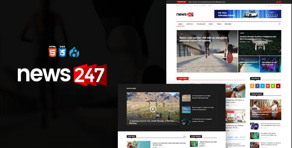 Image of News247 - News Magazine Drupal 8.4 Theme