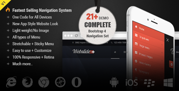 Web Slide - Bootstrap 4 Mega Menu Responsive - CodeCanyon Item for Sale