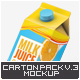 Milk or Juice Carton Mock-Up v.3 - GraphicRiver Item for Sale
