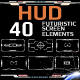 HUD Futuristic Element Pack For 40 UI Target Monitor Screen - GraphicRiver Item for Sale