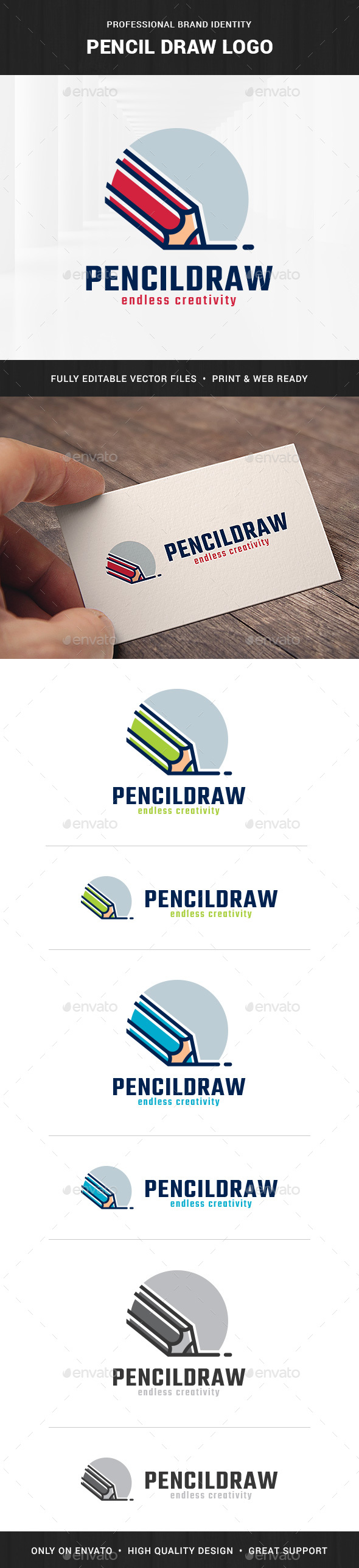 Pencil Draw Logo Template - Objects Logo Templates
