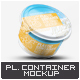 Plastic Container for Dairy Mock-Up - GraphicRiver Item for Sale