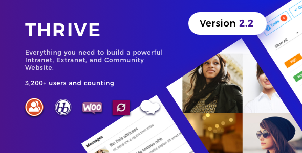 Thrive - Intranet & Community WordPress Theme - BuddyPress WordPress