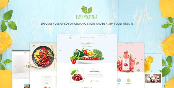 Fresh Vegetable – Organic Store & Eco Food Products PSD Template