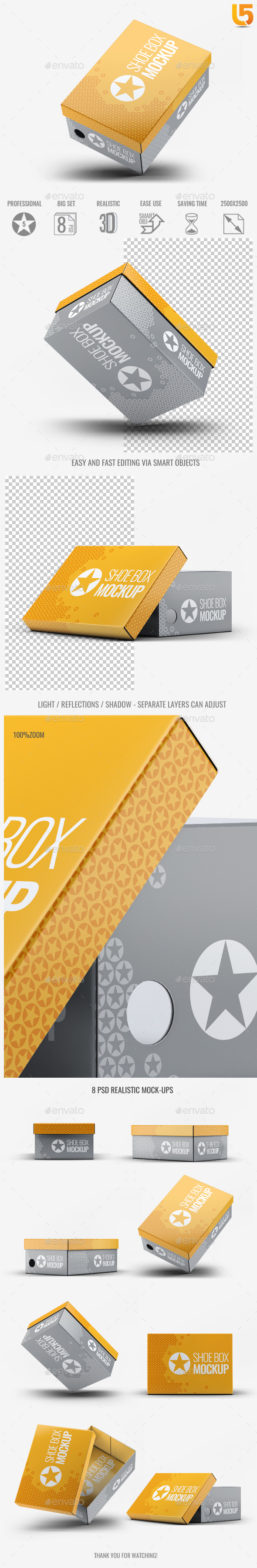 Shoe Box Mock-Up v.2 - Miscellaneous Packaging