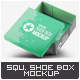 Square Shoe Box Mock-up - GraphicRiver Item for Sale
