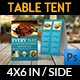 Restaurant Table Tent Template Vol.19