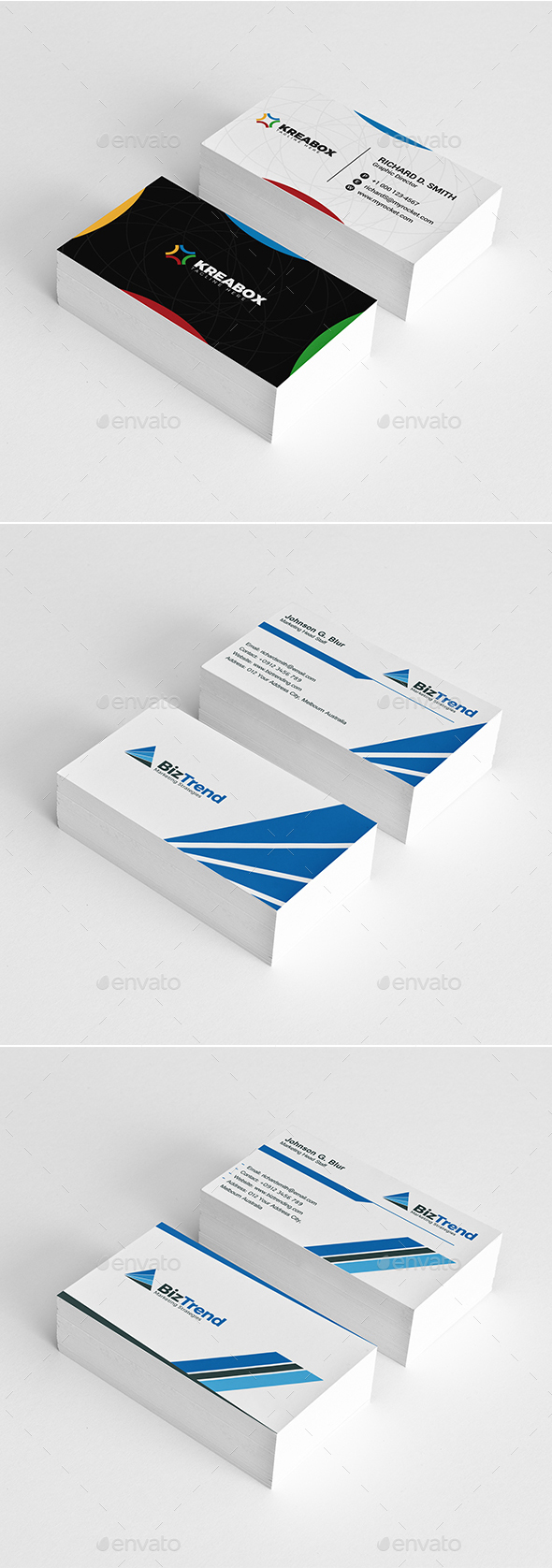3 In 1 Business Card Bundle - Business Cards Print Templates