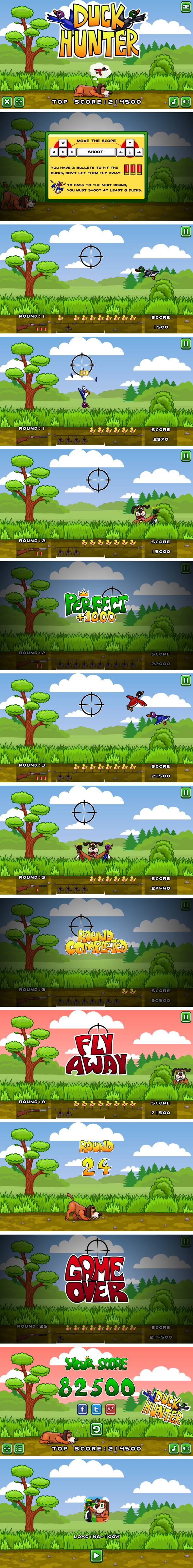 Duck Hunter - HTML5 Game + Mobile Version! (Construct 3 | Construct 2 | Capx) - 3