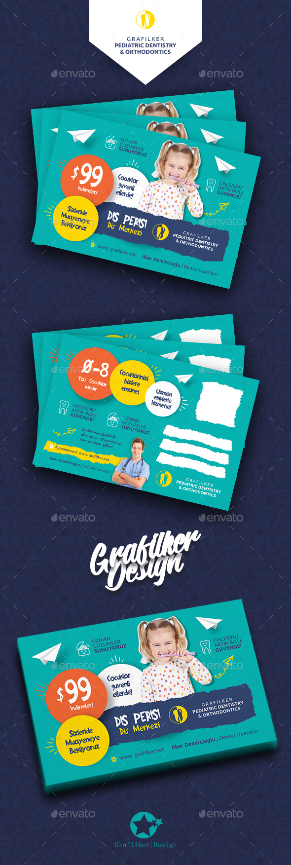 Kids Dental Postcard Templates - Cards & Invites Print Templates