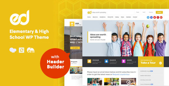 Ed School: Education, Elementary-High School WordPress Theme - Education WordPress