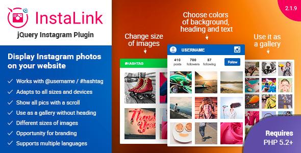 Instagram Plugin - jQuery Instagram Widget - CodeCanyon Item for Sale