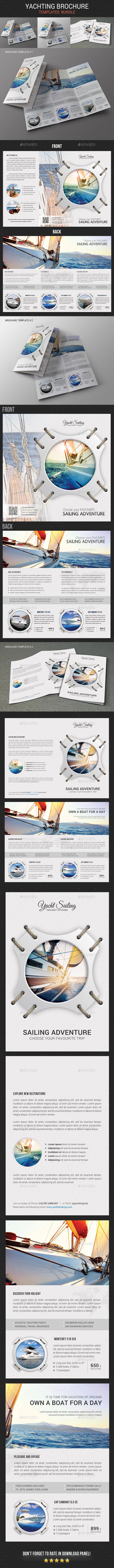 Yachting Brochure Bundle 2 - Brochures Print Templates
