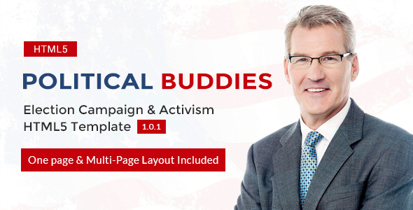 Image of Political Buddies - Election Campaign & Activism HTML5 Template