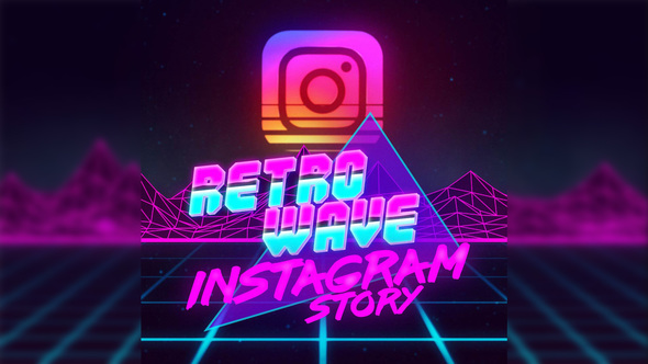 Retro Wave Instagram Story (Product Promo) After Effects Templates