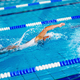 Female swimmer on training in the swimming pool - PhotoDune Item for Sale