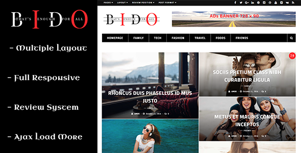 Bido - WordPress Blog & Magazine Theme
