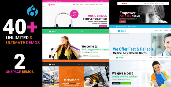 Rise - Responsive Multi-Purpose Drupal 8 Theme - Corporate Drupal