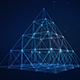 Plexus Futuristic Digital Pyramid Network of Connected Lines and Dots - VideoHive Item for Sale