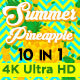 Summer Pineapple Vj Loops Pack - VideoHive Item for Sale