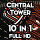 Central Tower Vj Loops Pack - VideoHive Item for Sale