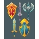 Vector Weapons for Fantasy Game - GraphicRiver Item for Sale