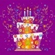 Birthday Cake with Candles - GraphicRiver Item for Sale