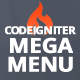 Mega Menu for CodeIgniter + ion-auth +  Material Design for Bootstrap Theme