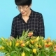 A Middle-aged Woman with Flowers - VideoHive Item for Sale