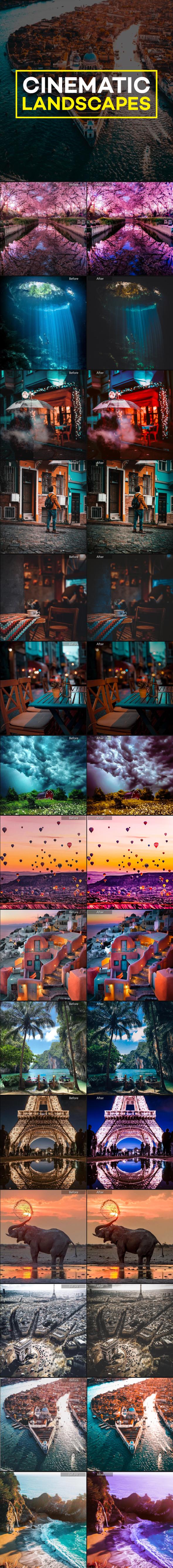 21 Pro Moody Cinematic Landscape Lightroom Presets - Landscape Lightroom Presets