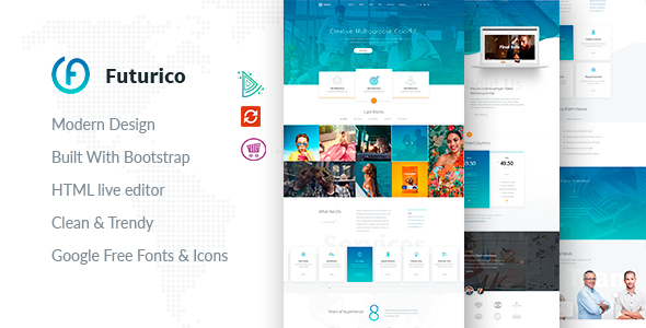Image of Futurico - Multipurpose Joomla Template