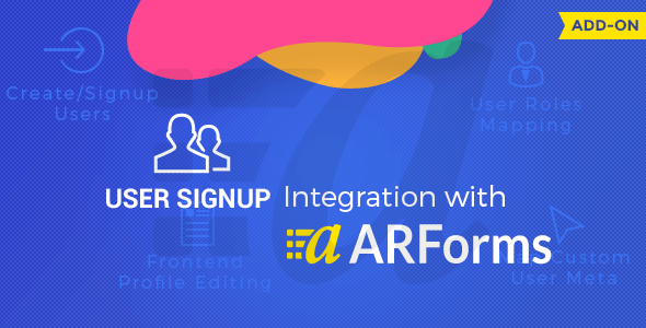 User Signup for Arforms - CodeCanyon Item for Sale