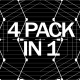 Black And White Line VJ Pack - VideoHive Item for Sale