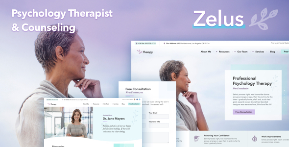 Image of Zelus - WordPress Theme for Psychology Counseling