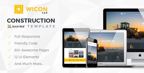Image of WICON | Construction & Building Joomla Template