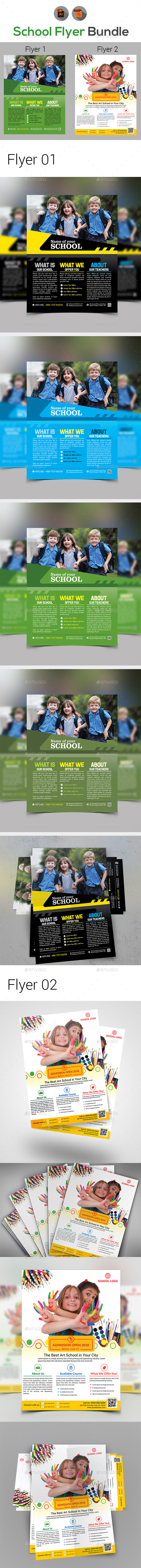 School Flyers Bundle - Corporate Flyers