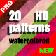 NEObgs 20 Watercolored Patterns Pack