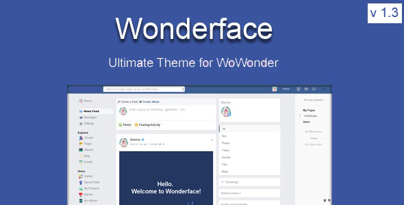 Wonderface - The Ultimate WoWonder Theme - CodeCanyon Item for Sale