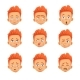 Redhead Boy Set - GraphicRiver Item for Sale