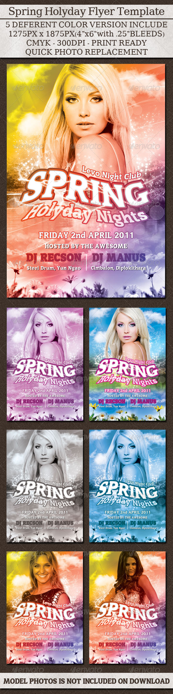 Spring Holyday Night Flyer - Clubs & Parties Events
