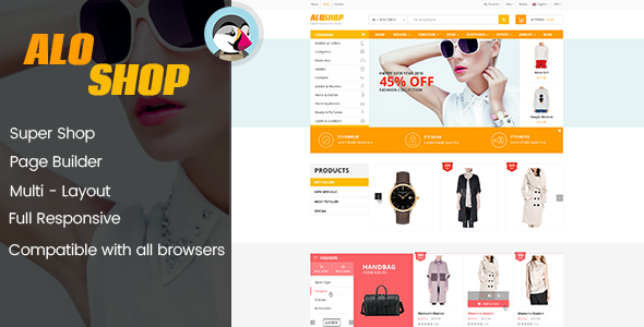 Image of AloShop - Mega Store & Flexible Page Builder Prestashop 1.7.x Theme (10 home page)