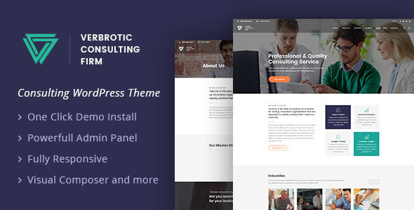 Verbrotic : Business Consulting WordPress Theme