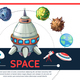 Cartoon Colorful Space Template - GraphicRiver Item for Sale
