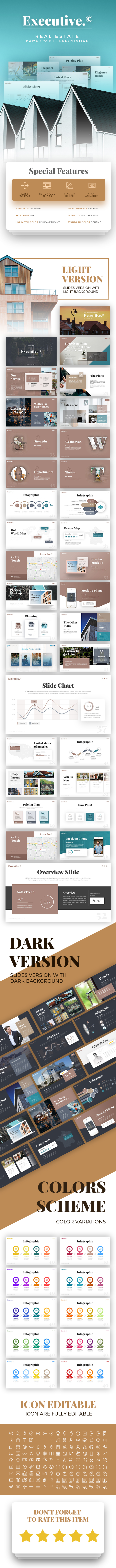 executive real estate presentation template by rrgraph graphicriver