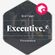 Executive - Real Estate Presentation Template - GraphicRiver Item for Sale