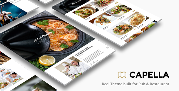 Restaurant WordPress | Capella for Restaurant - Restaurants & Cafes Entertainment